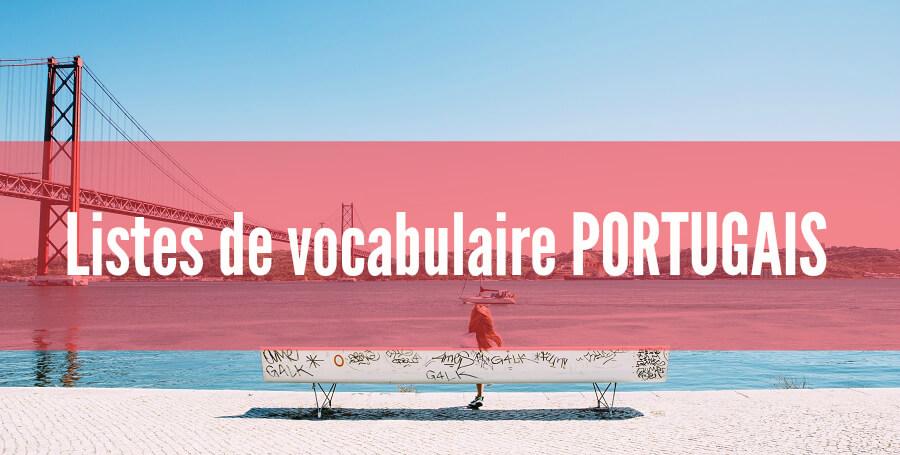 fiches listes de vocabulaire portugais pdf