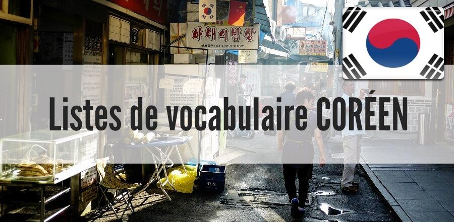 liste vocabulaire coreen pdf